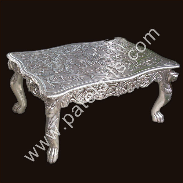 Silver Center Table, Silver Tables, Center Tables, Silver Coffee Tables,  Manufacturers, India, Silver Center Tables, Silver Side ...