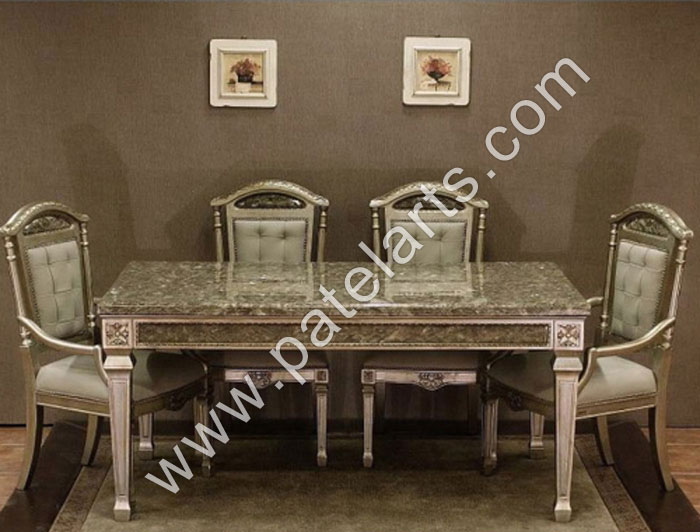 Silver dining set dining table silver dining sets for Dining room in german