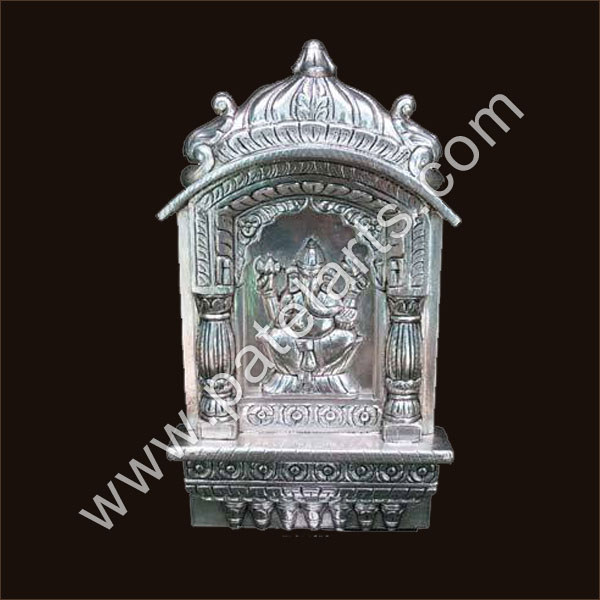 Silver Temple, White Metal Temple, Silver Carved Temples, Meenakari Silver  Temple / Mandir
