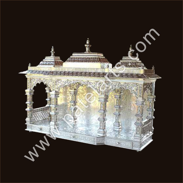 ... Silver Temple, White Metal Temple, Silver Carved Temples, Meenakari  Silver Temple / Mandir