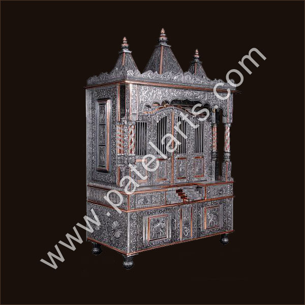 Silver Temple White Metal Temple Silver Carved Temples