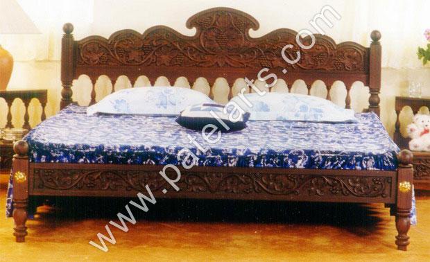 Wooden Bed Beds Carved Wooden Beds Designer Wooden Beds - Traditional indian bedroom designs