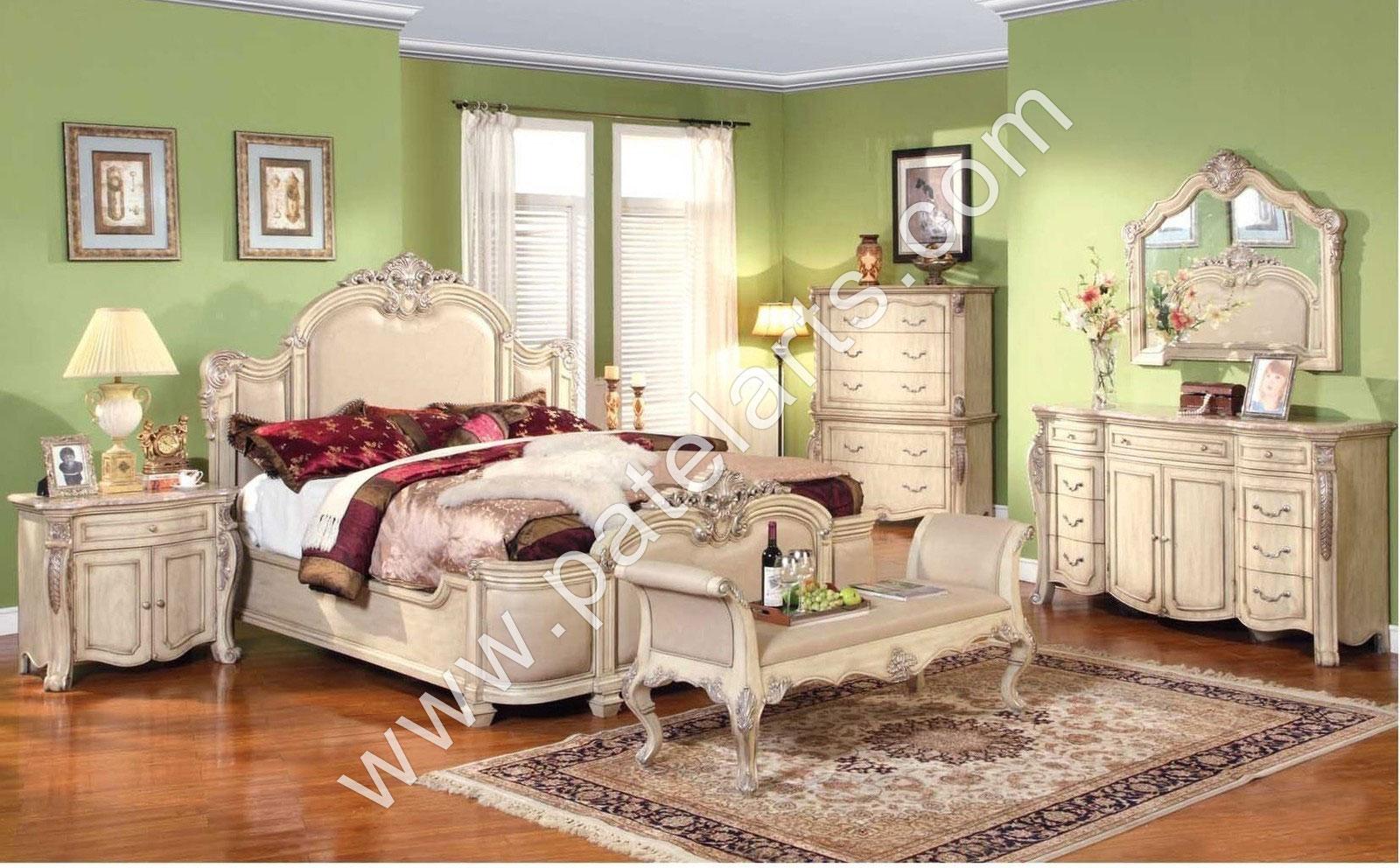 Wooden Bed, Beds, Carved Wooden Beds, Designer Wooden Beds