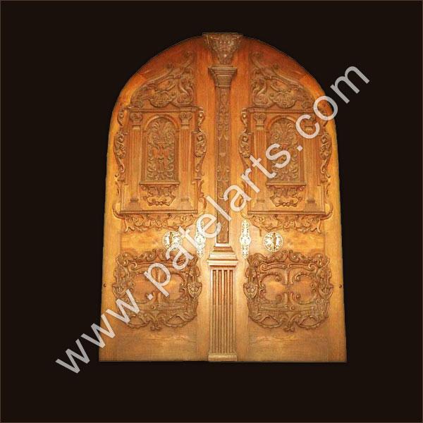 Carved doors wooden antique