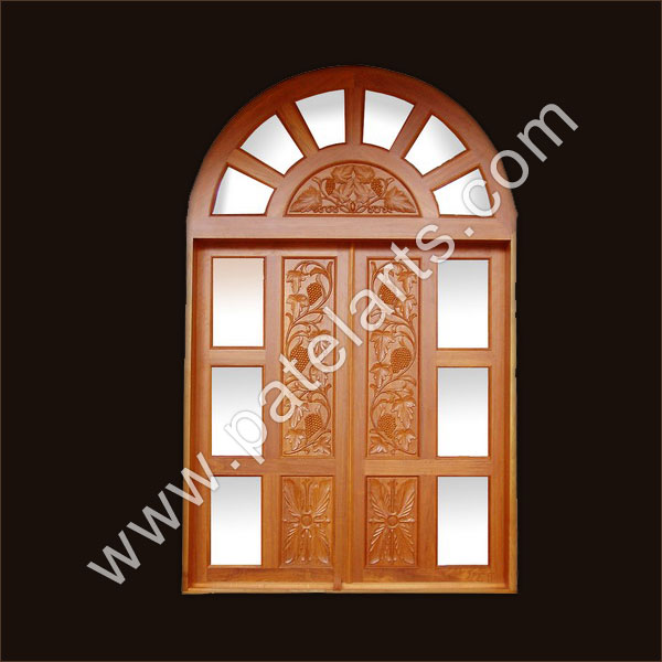Carved Wooden Doors India 27