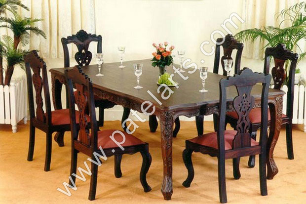 Dining table set online buy wooden dining table sets 25 for Latest wooden dining table designs