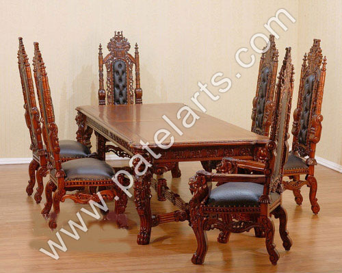 indian carved dining table. wooden dining tables, carved sets, table india, wood indian n