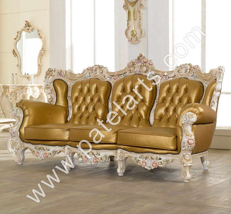 Wooden sofa sets indian carved carving