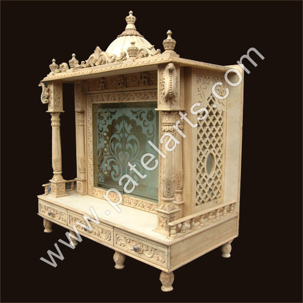 Buy Wooden Mandir Wooden Temple Wooden Home Mandir Wooden Home Temple Supplier Exporter