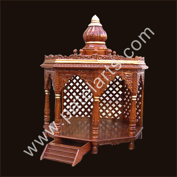 Wooden Carved Teakwood Temple Mandir Wooden Temple Wooden Temple