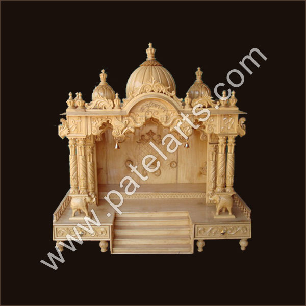 Wooden Mandir Temple Design For